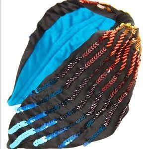 NAMJOSH sequin and bead embellished headband